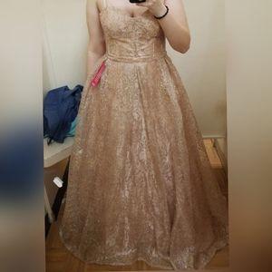 GB Gold prom dress